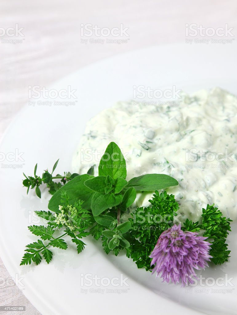 Herbed Curd Cheese royalty-free stock photo