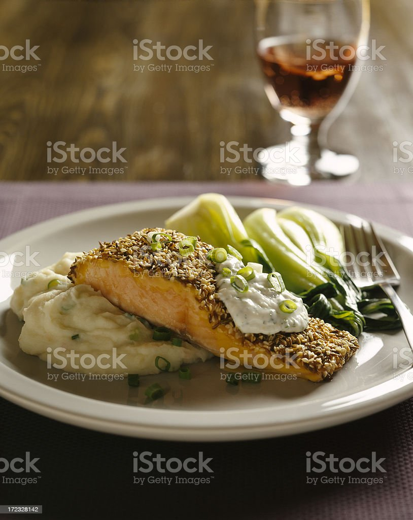 Herbed Salmon royalty-free stock photo