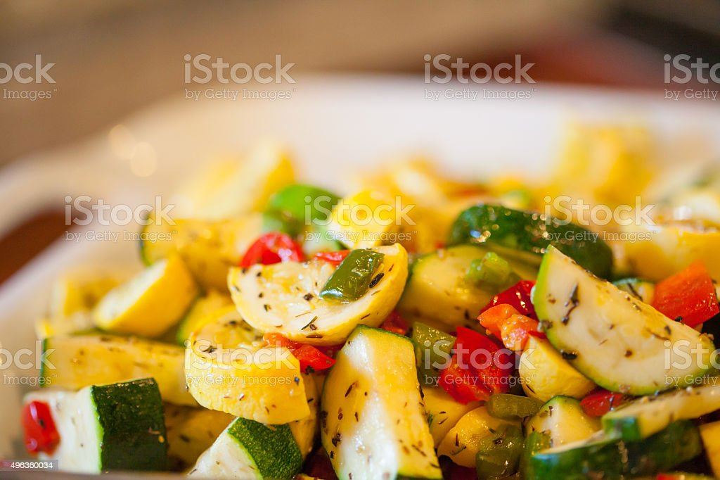 Herbed Vegetable Plate stock photo