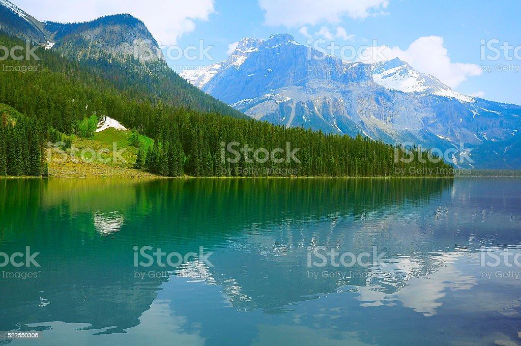 Herbert Lake. Yoho National park. stock photo