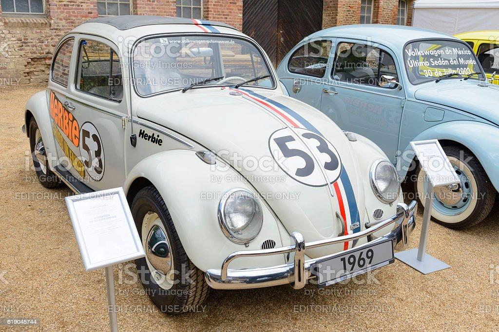 Herbie Volkswagen Beetle or VW Bug movie car stock photo