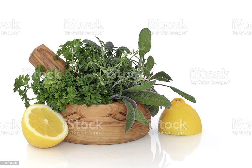 Herbs and Lemon royalty-free stock photo