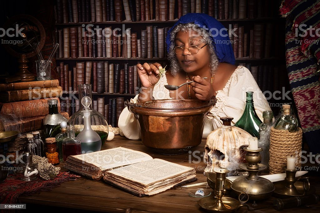 Herbs and science stock photo