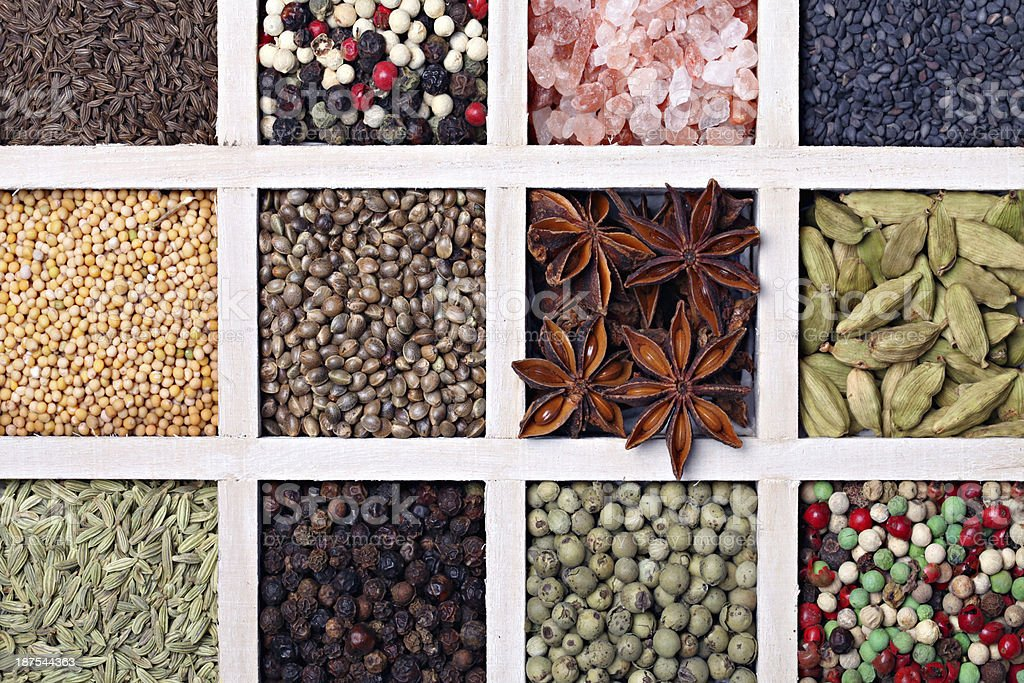 Herbs and spice. royalty-free stock photo