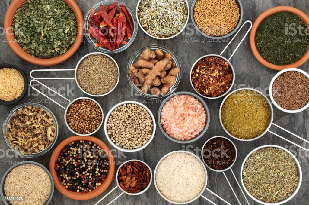 Herbs and Spices for Cooking stock photo
