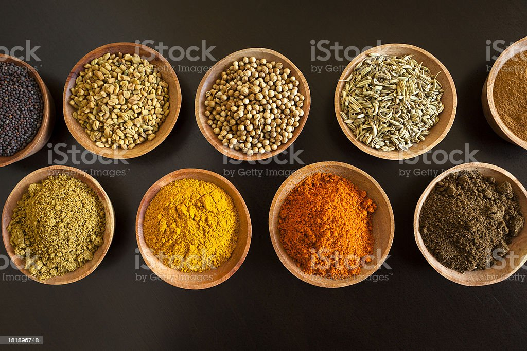 Herbs and Spices of South Asia stock photo