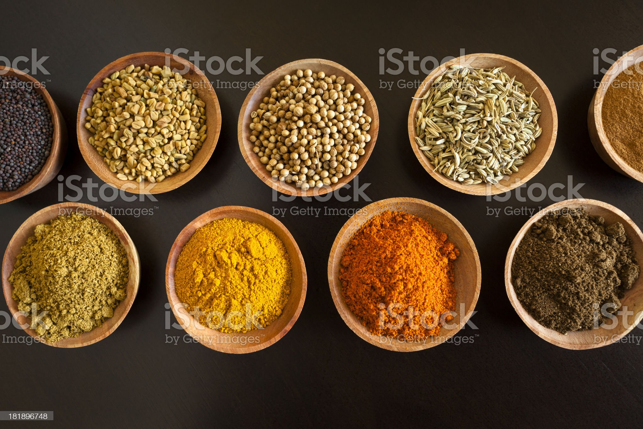 Herbs and Spices of South Asia royalty-free stock photo