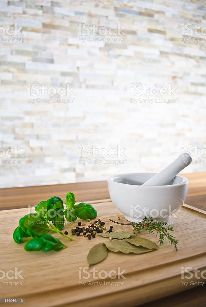 Herbs and spices royalty-free stock photo