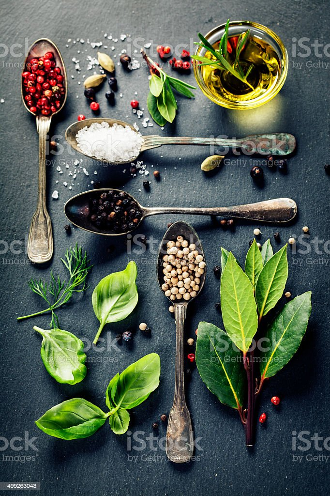 Herbs and spices selection royalty-free stock photo