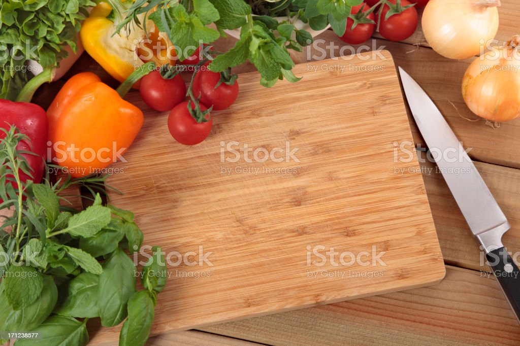 Herbs and vegetables royalty-free stock photo