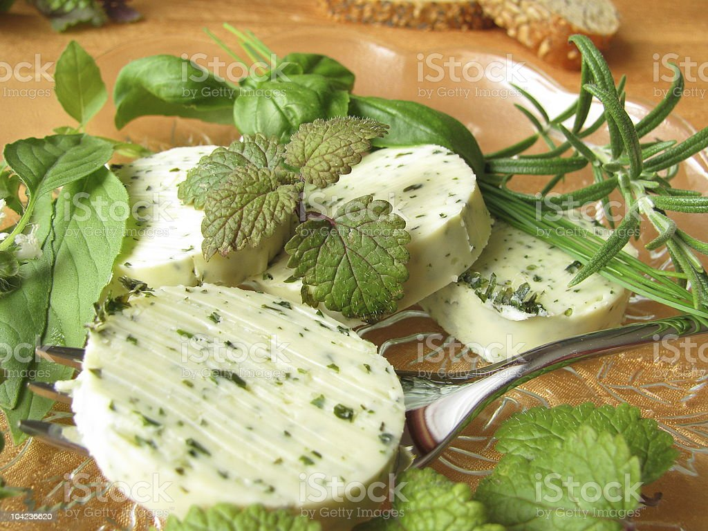 Herbs butter royalty-free stock photo