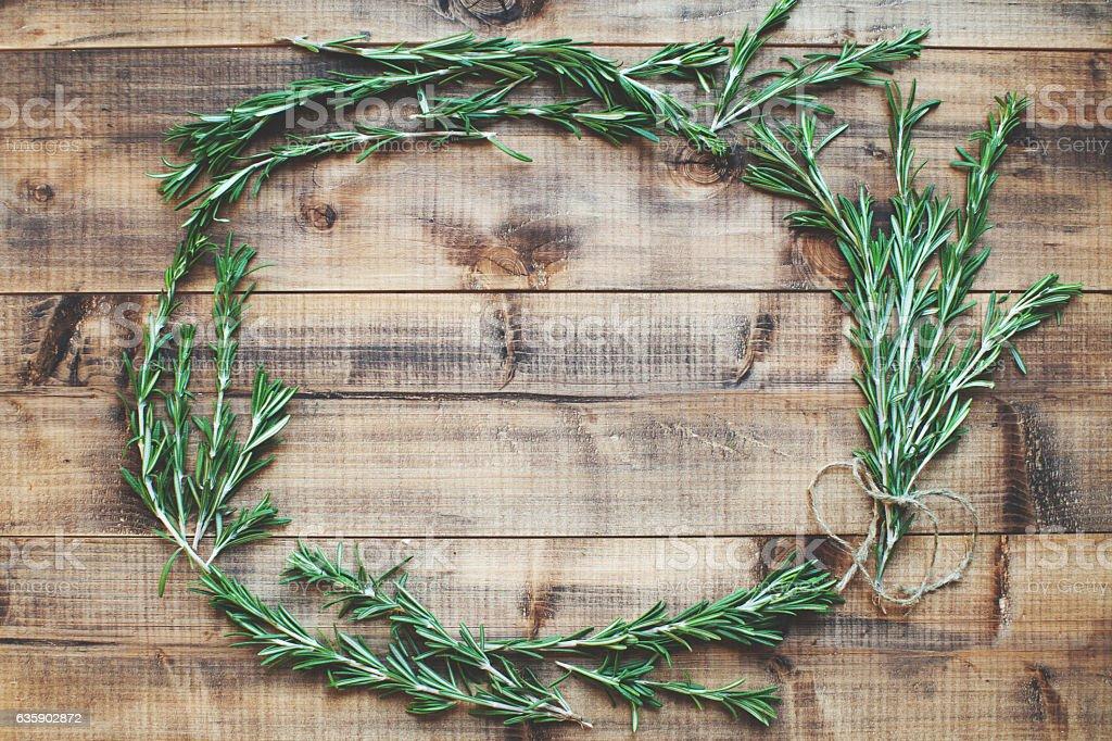 Herbs frame stock photo