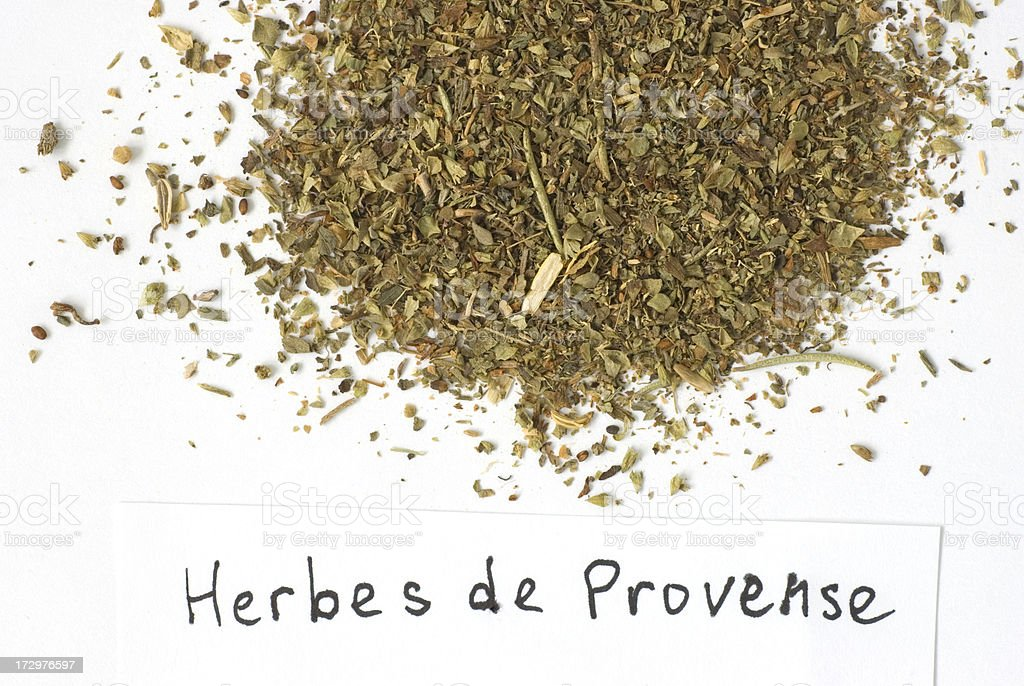 Herbs: Herbes de Provence on White royalty-free stock photo
