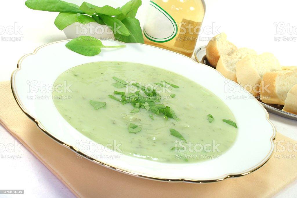 Herbs soup stock photo