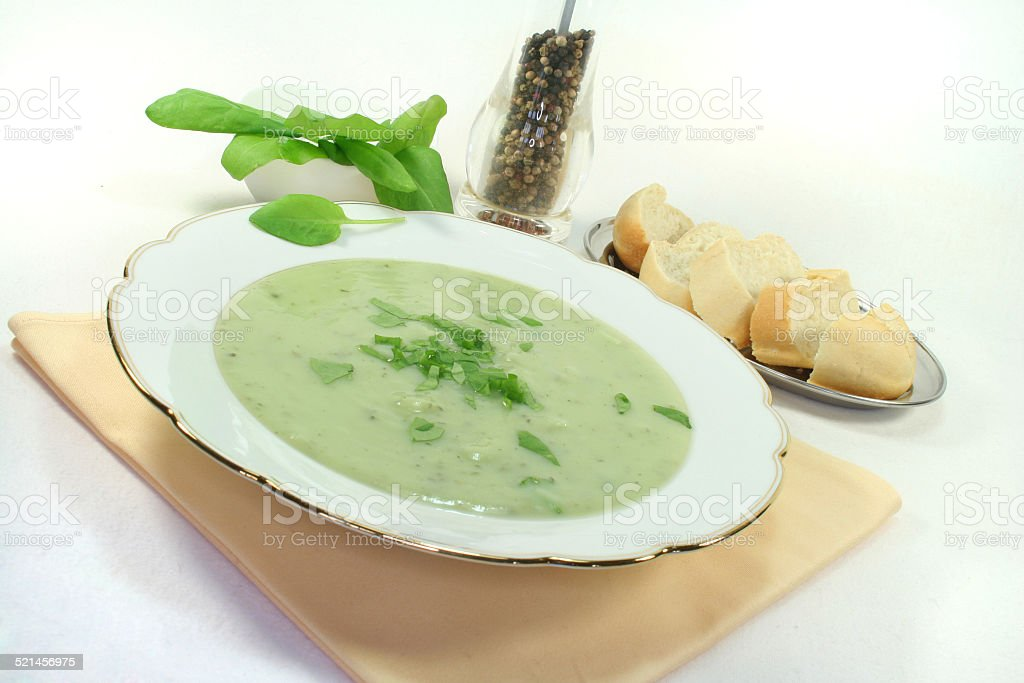Herbs soup stock photo