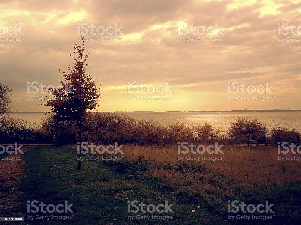 Herbst am Meer - autumn sea stock photo