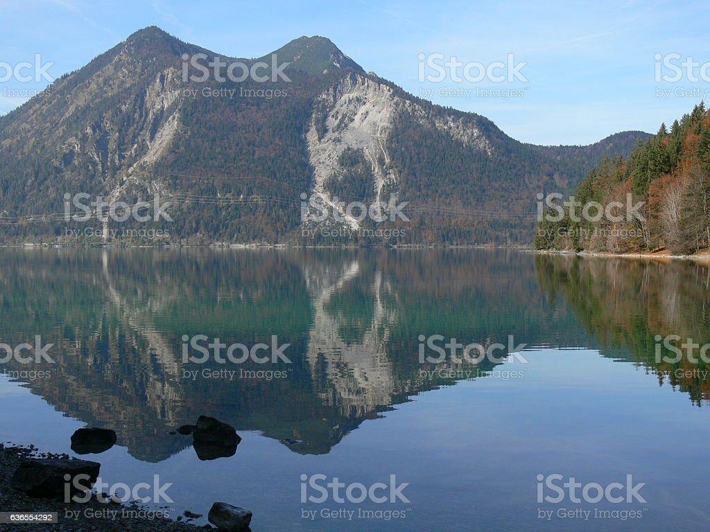 Herbst am Walchensee 2 stock photo