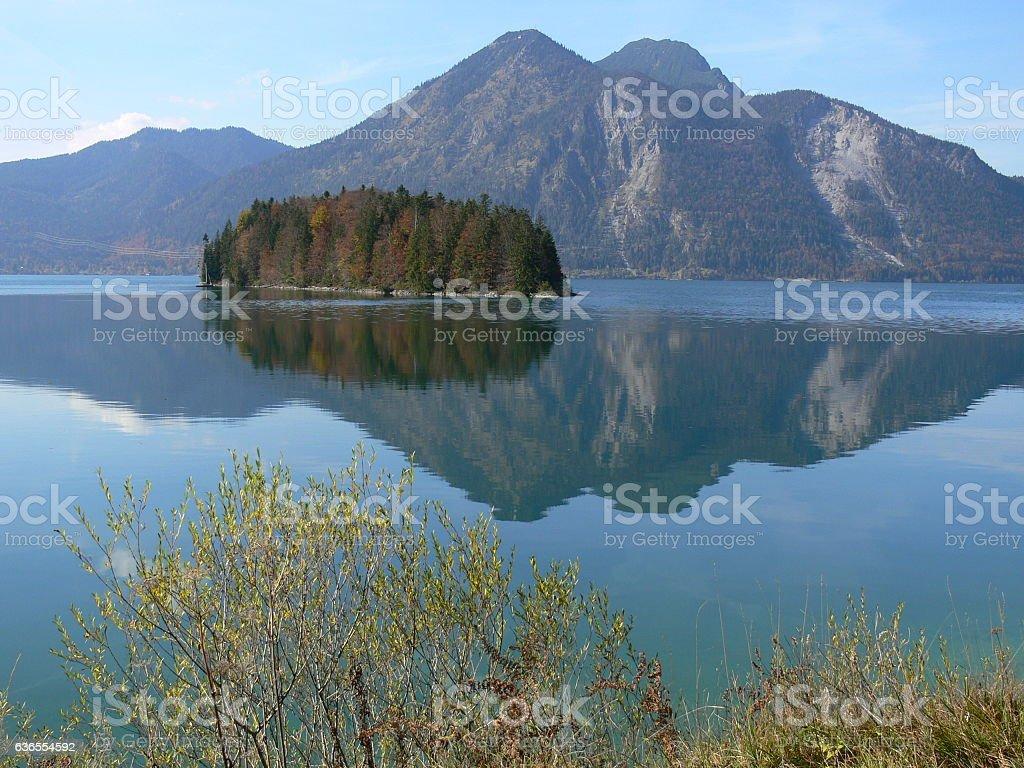 Herbst am Walchensee 3 stock photo