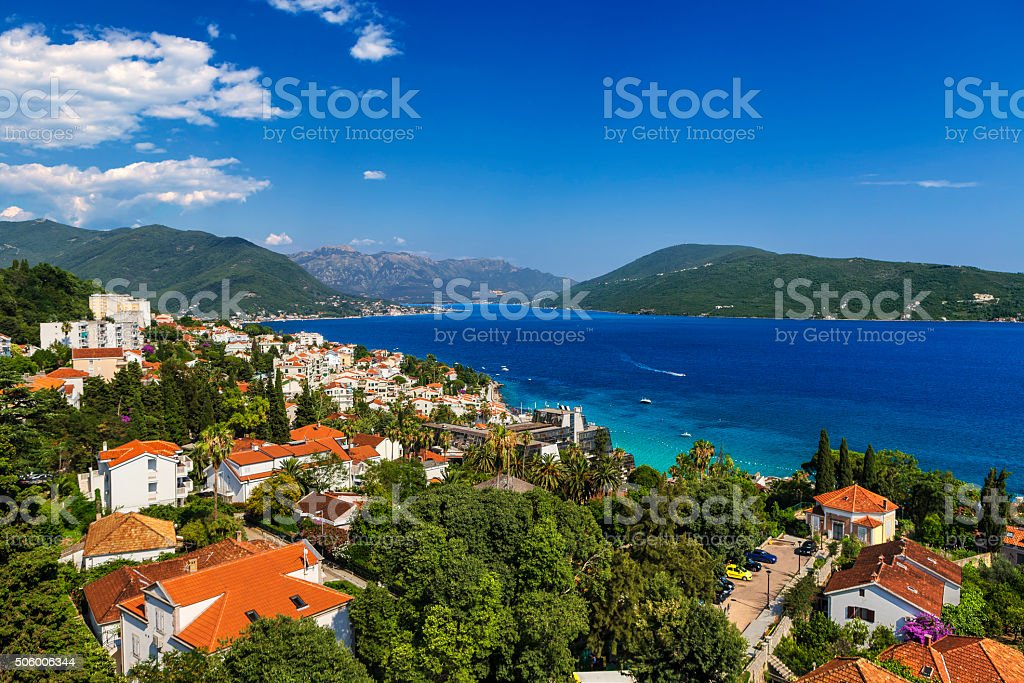 Herceg Novi City stock photo