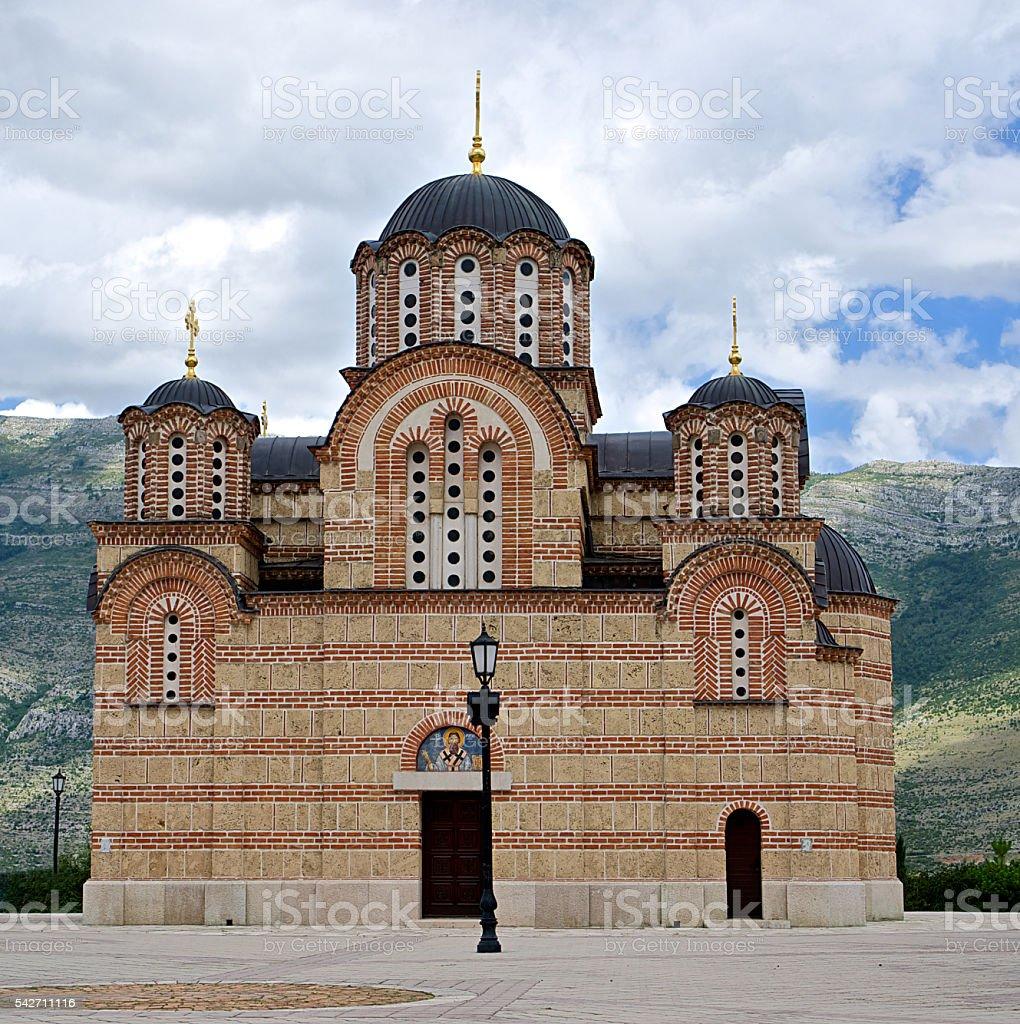 Hercegovacka Gracanica church in Trebinje, Bosnia and Hercegovina stock photo