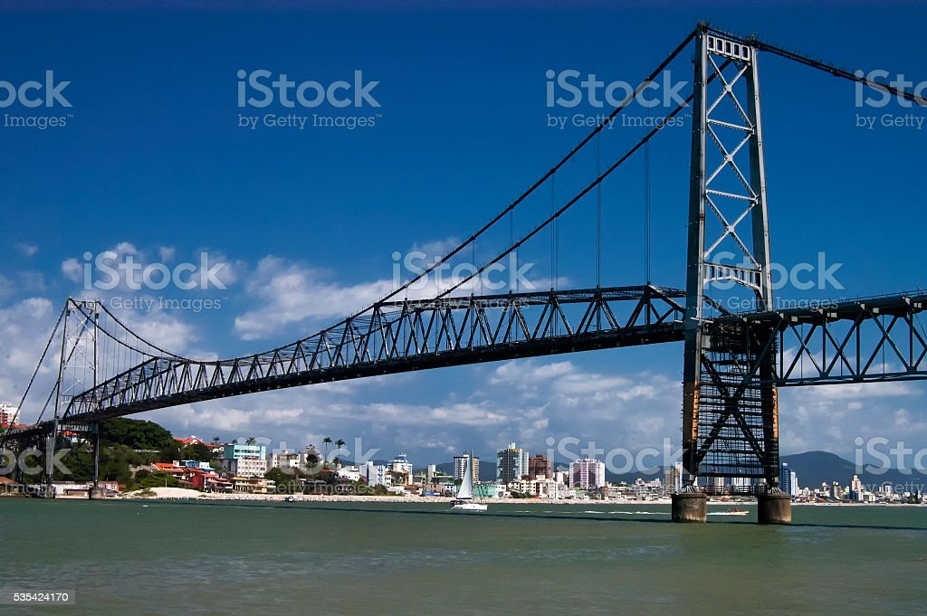 Hercilio Luz Bridge stock photo