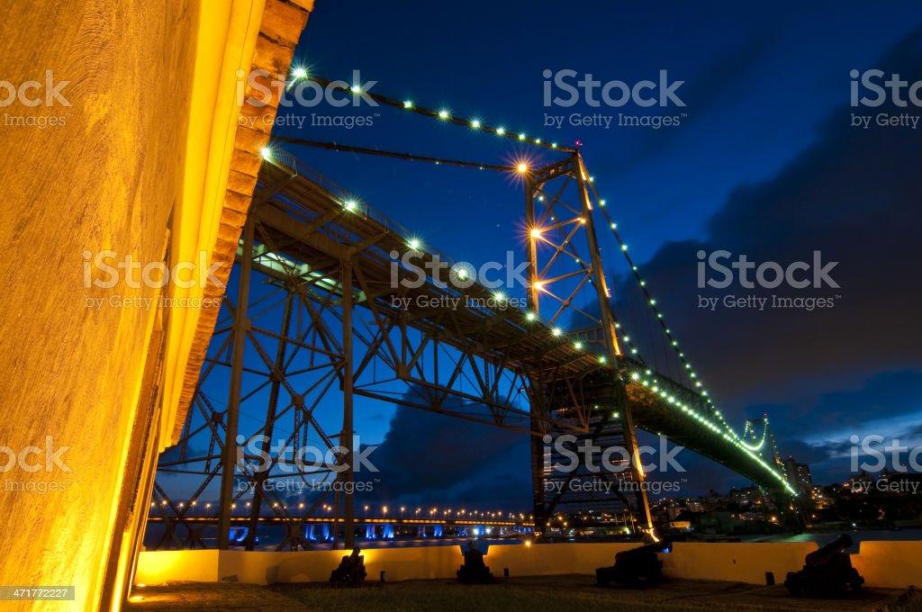 Hercilio Luz Bridge, Florianopolis royalty-free stock photo
