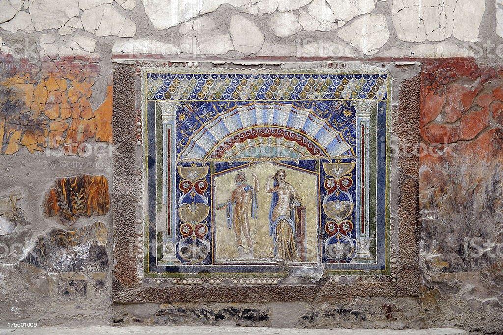 Herculaneum wall stock photo