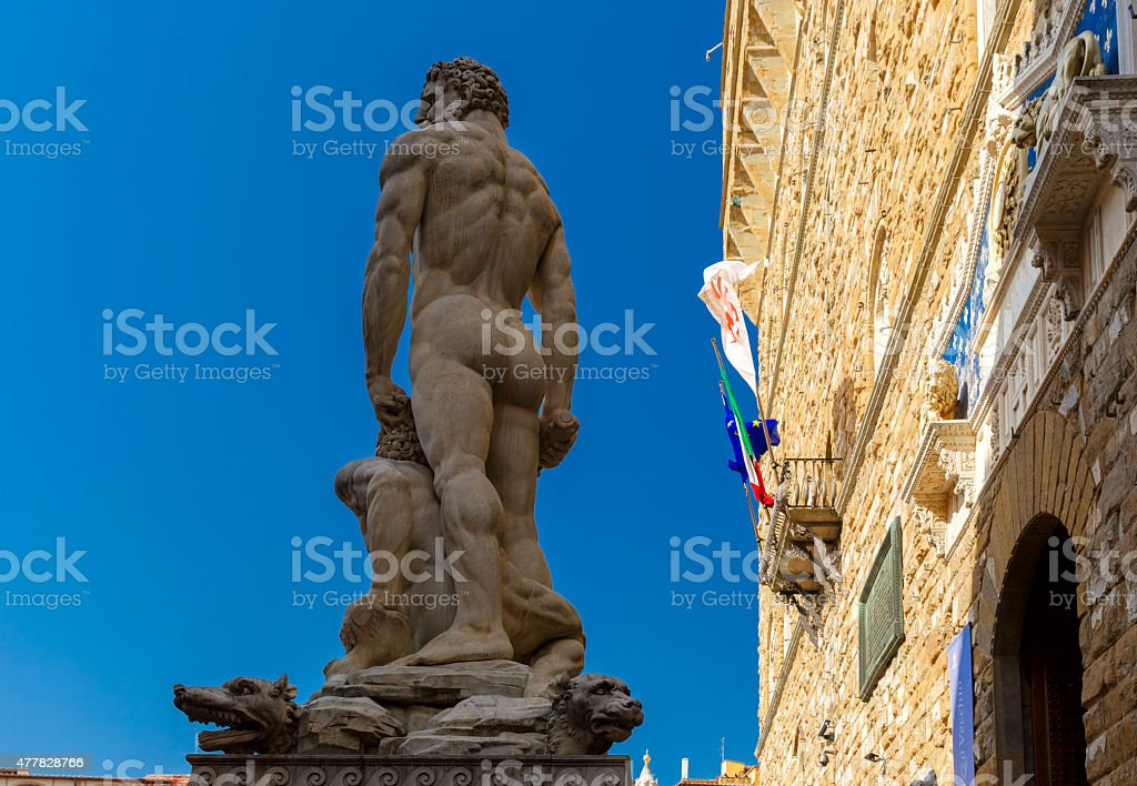 Hercules and Cacus in Florence, Italy stock photo