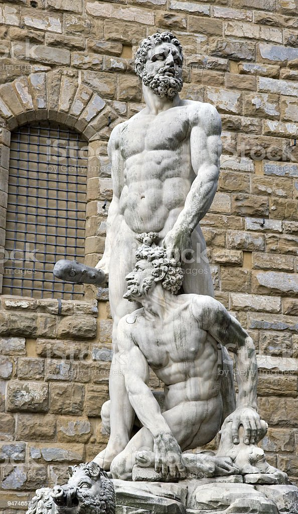 Hercules and Cacus in the Piazza della Signoria, Florence, Italy stock photo