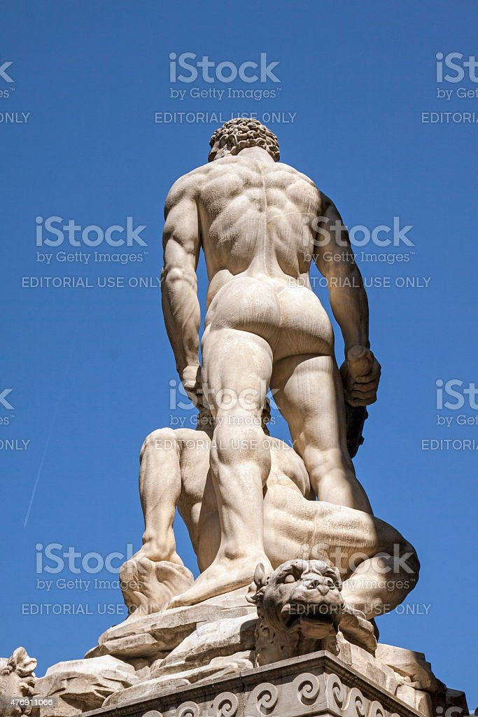 Hercules and Cacus stock photo