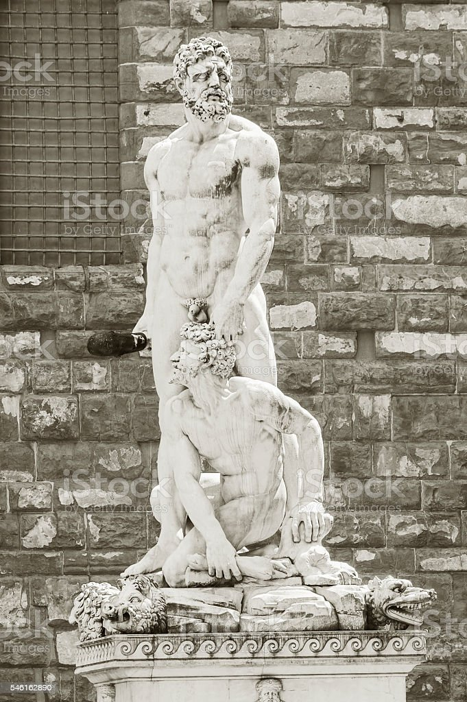 Hercules and Cacus statue in Florence stock photo