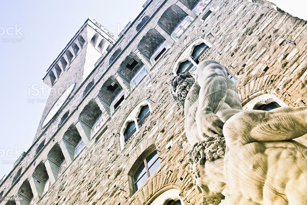 Hercules and Cacus Statue in Palazzo Vecchio, Florence stock photo