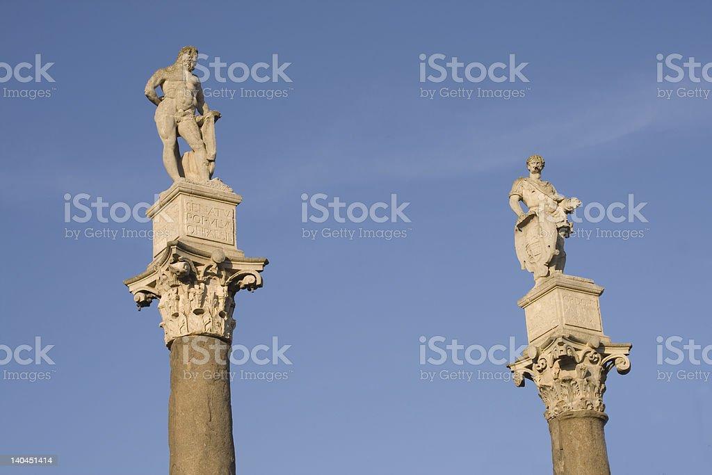 Hercules and Julius Caesar stock photo