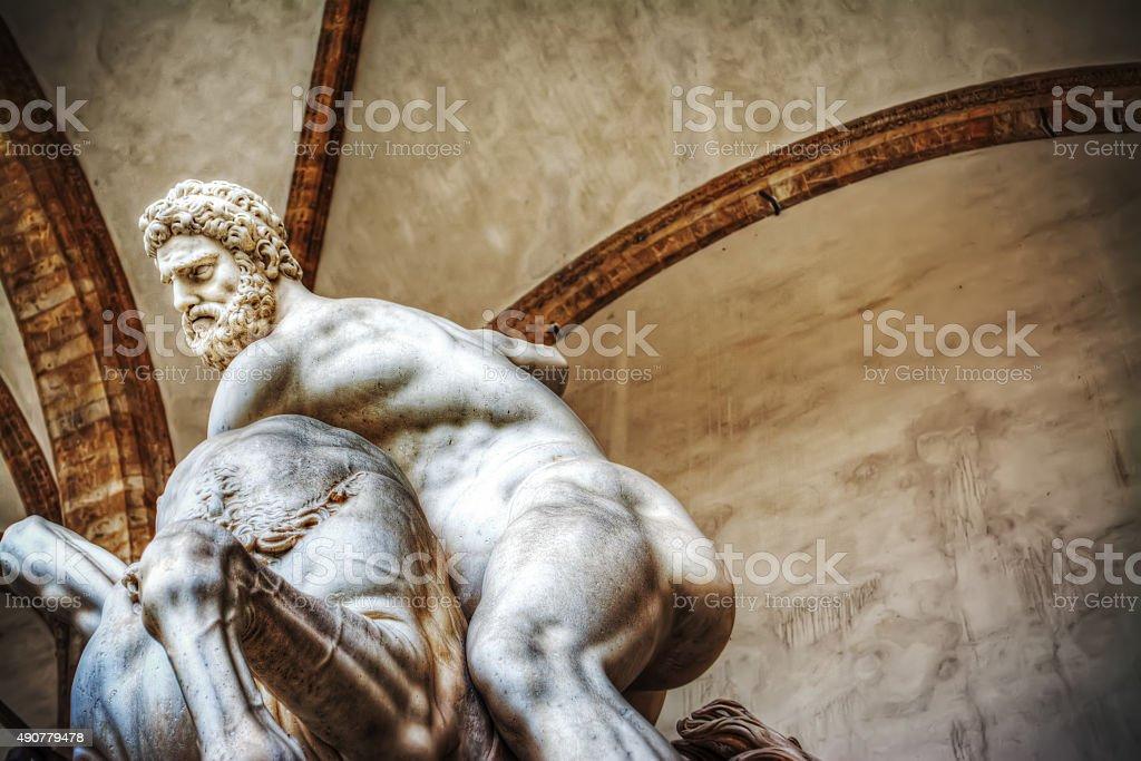 Hercules and Nesso centaur statue stock photo