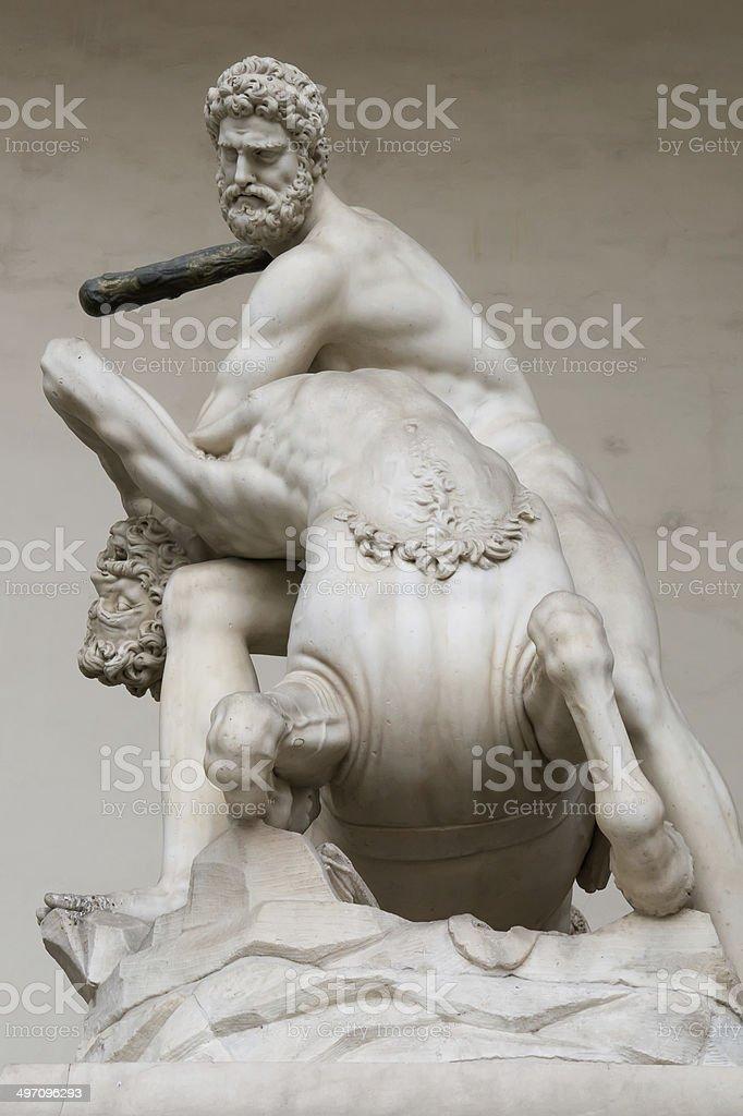 Hercules beating the centaur Nessus royalty-free stock photo