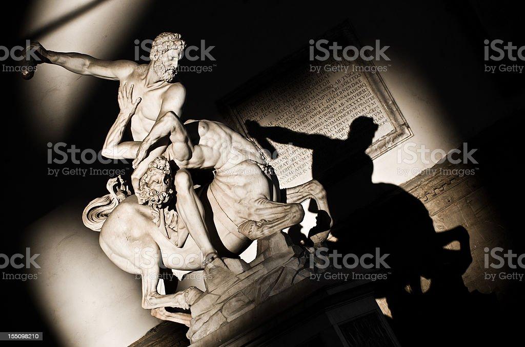 Hercules fighting with centaur Nessus stock photo