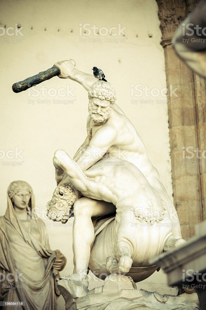 Hercules Killing a Centaur stock photo