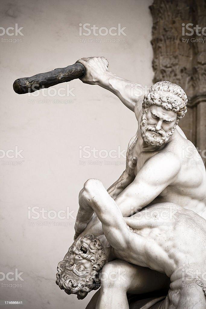 Hercules Killing the Centaur stock photo