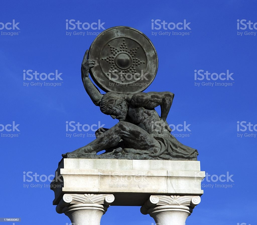 Hercules Monument, Ecija, Spain. stock photo