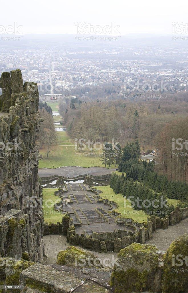 Hercules Monument in Kassel stock photo