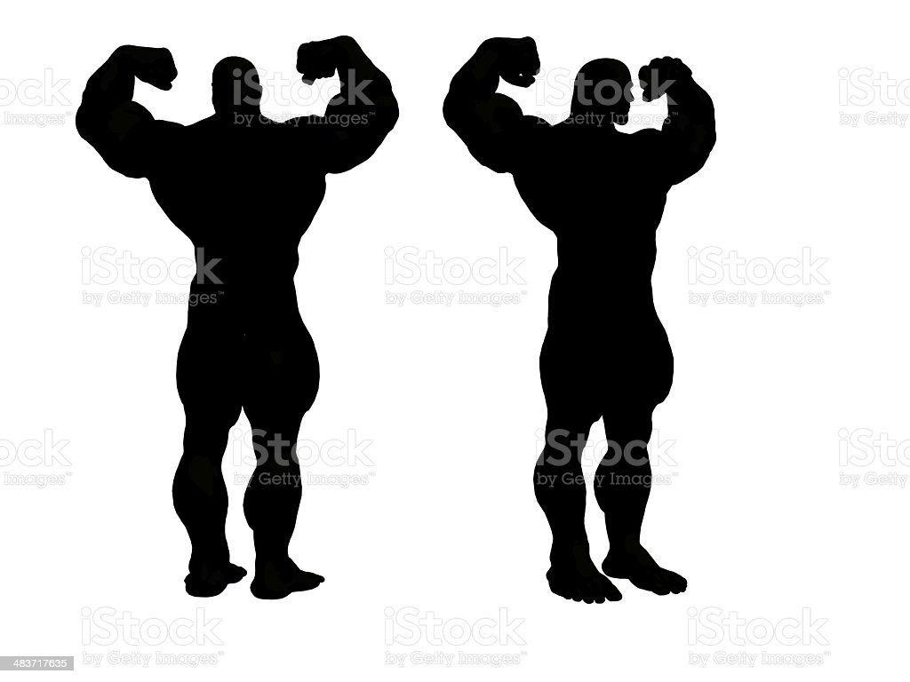 Hercules Silhouette stock photo