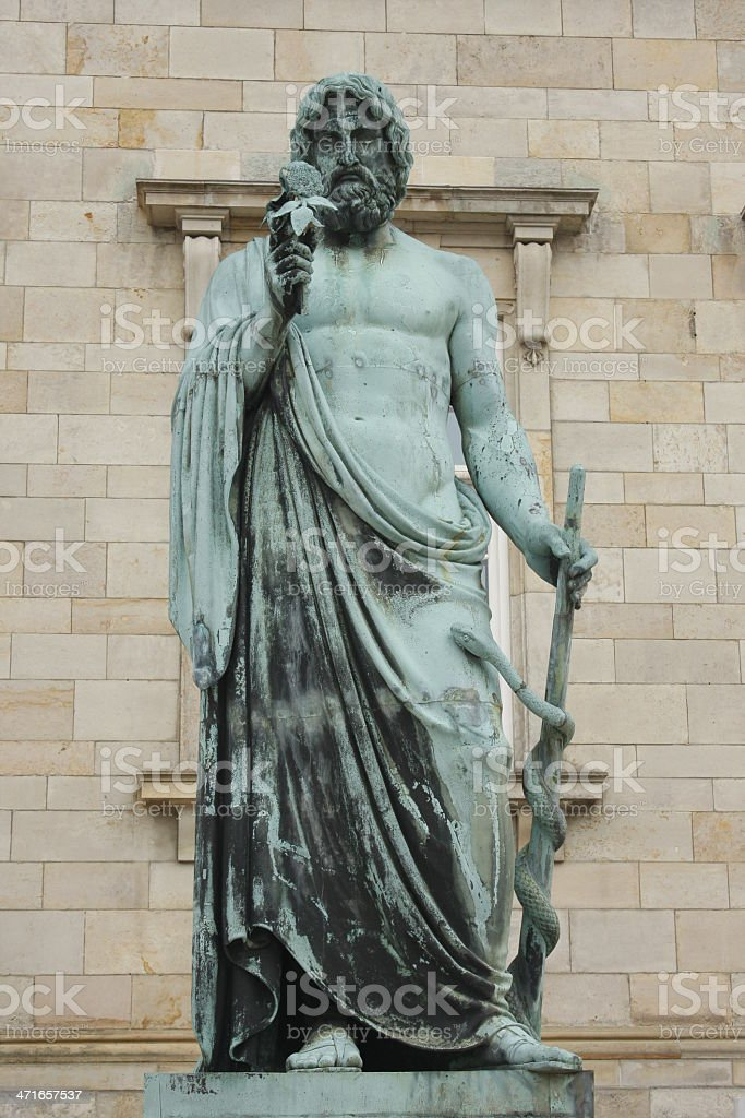 Hercules statue in Christiansborg Palace, Copenhagen stock photo