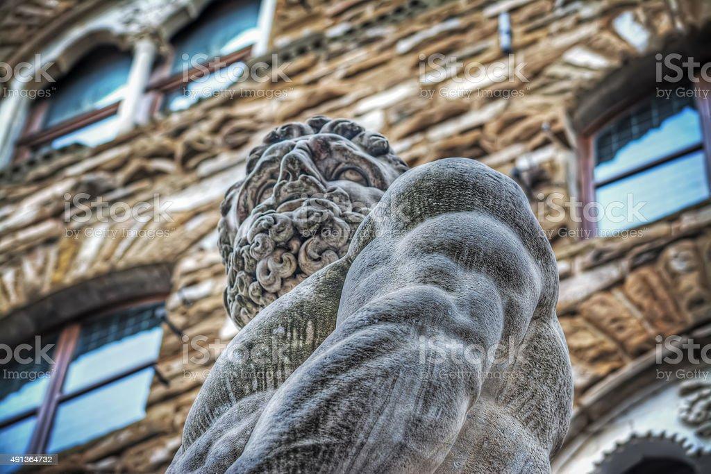 Hercules statue in Piazza della Signoria stock photo