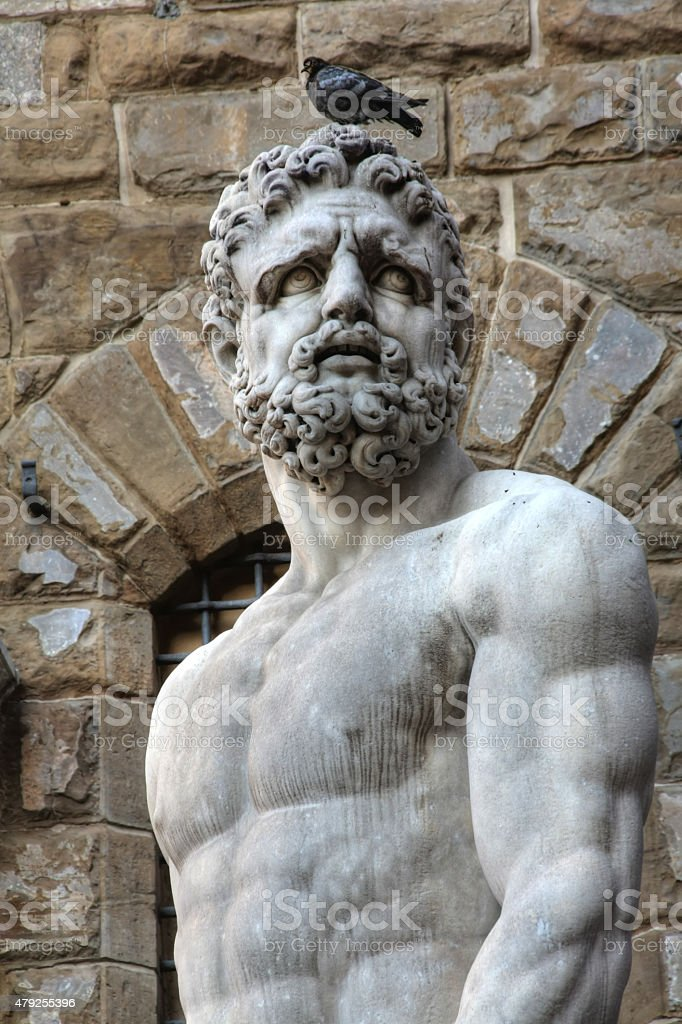 Hercules statue stock photo