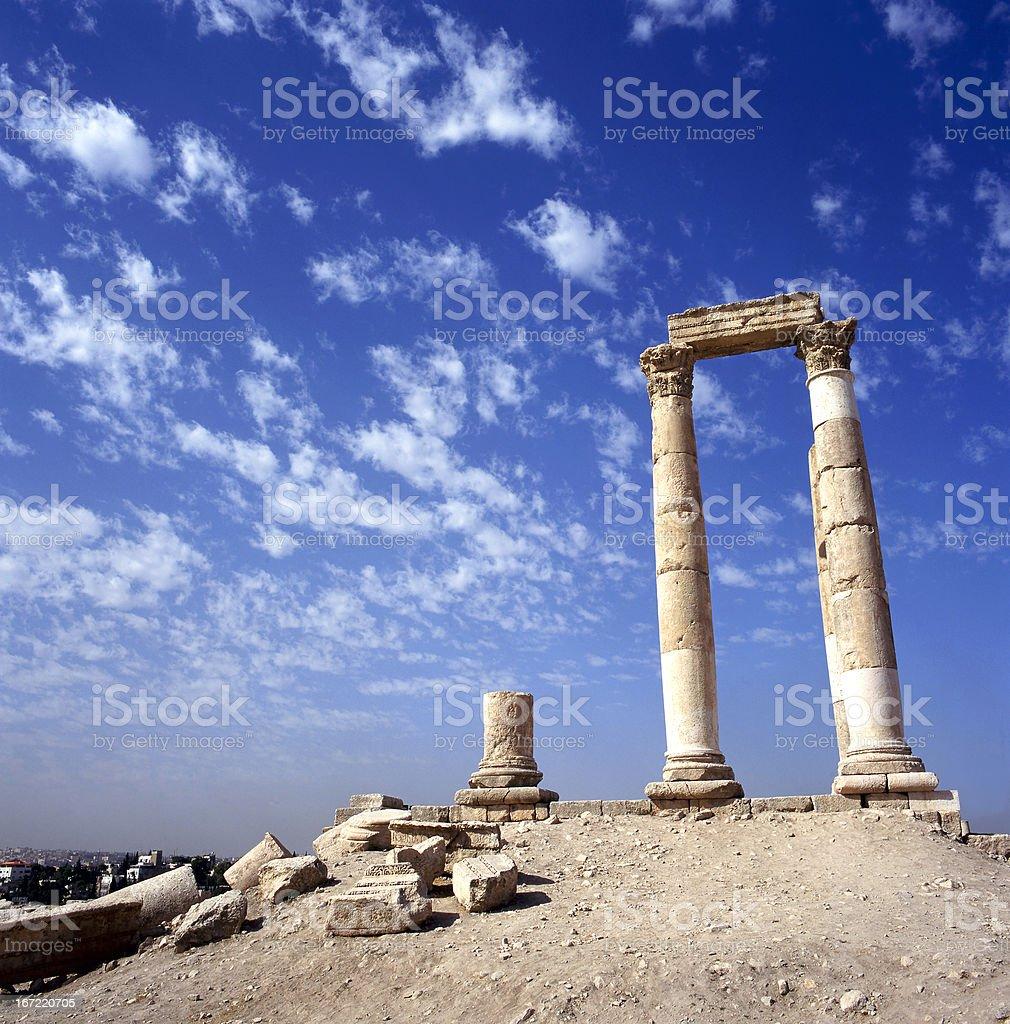 Hercules Temple Amman royalty-free stock photo