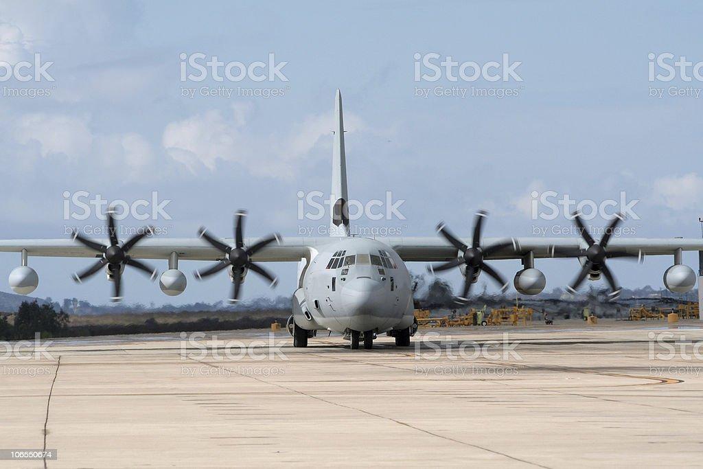 C-130 Hercules transport stock photo