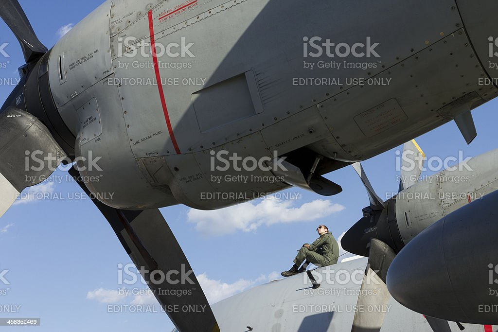 Hercules transport plane royalty-free stock photo