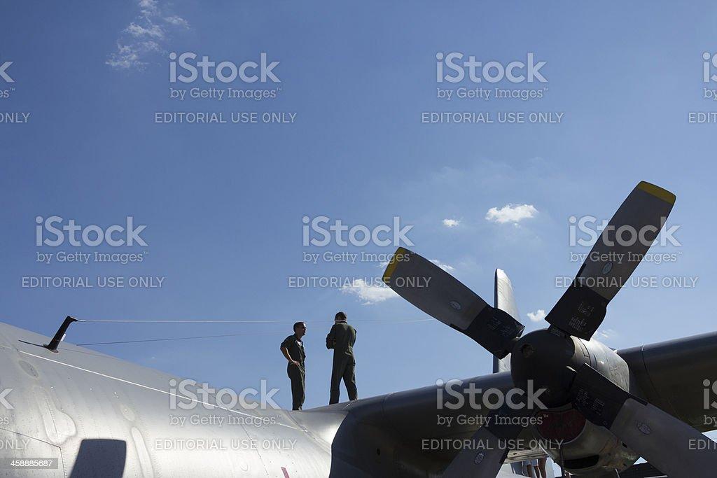 Hercules transport plane royalty-free stock photo