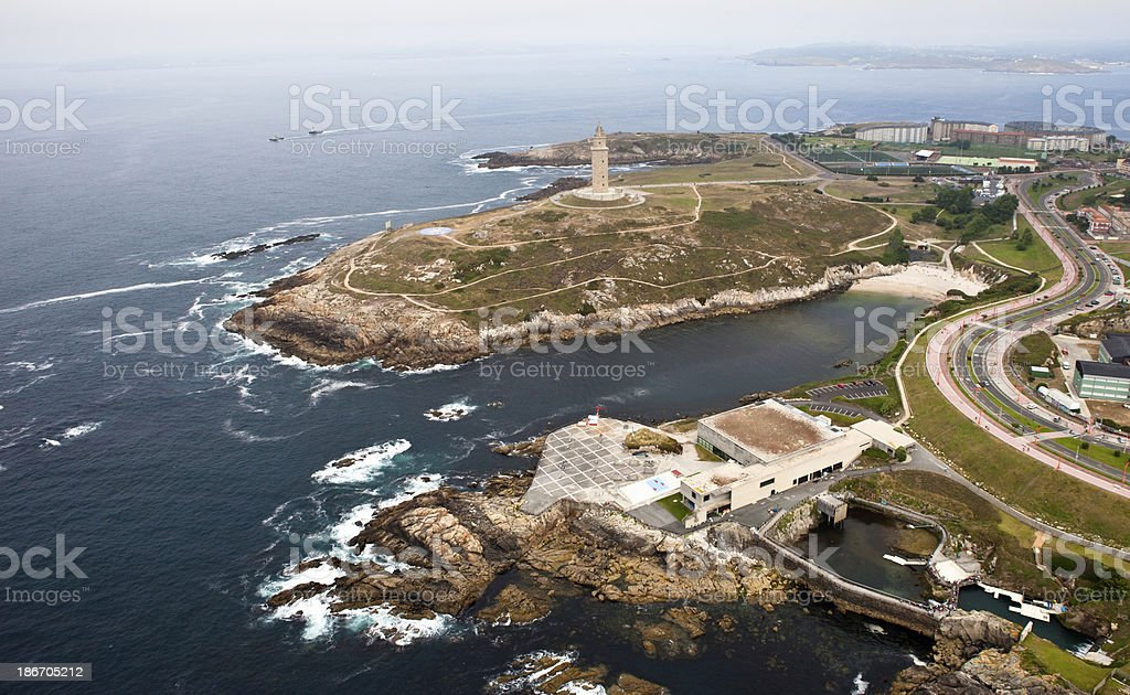 Hercules?Tower aerial view royalty-free stock photo