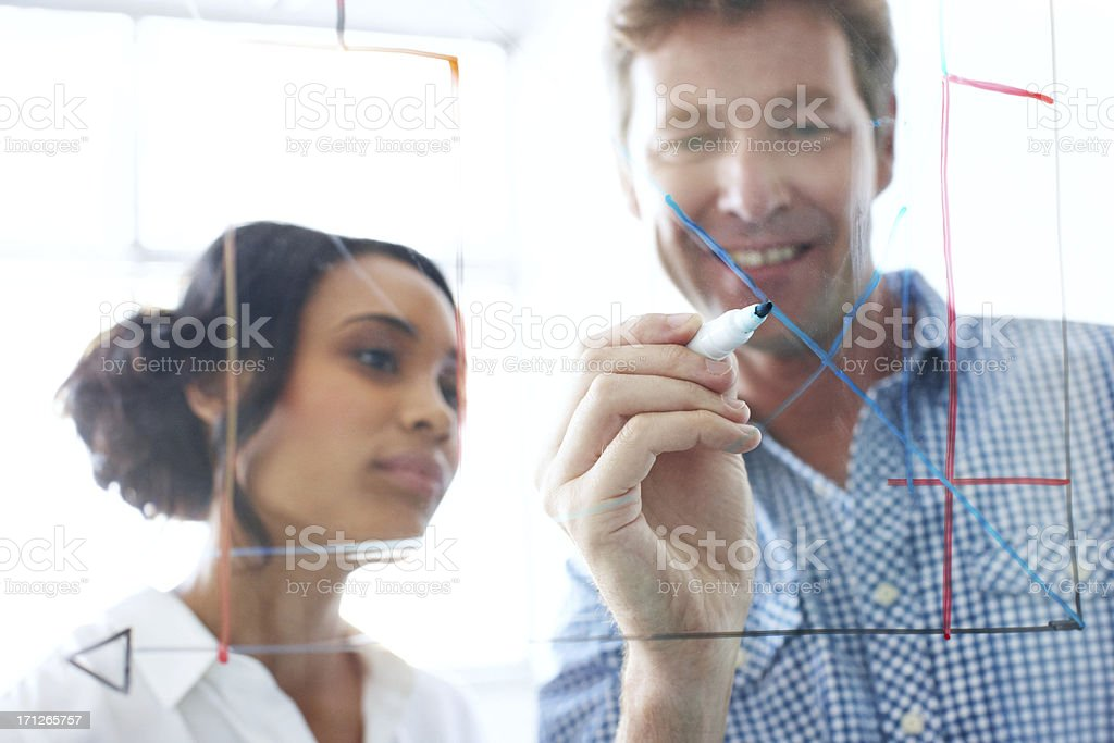 Here are our latest projections.... royalty-free stock photo
